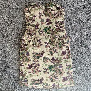 Chelsea & Violet Strapless Floral Dress